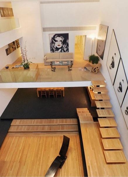 Sàn gỗ sử dụng lát cầu thang cho không gian vẻ đẹp tự nhiên, thân thiện